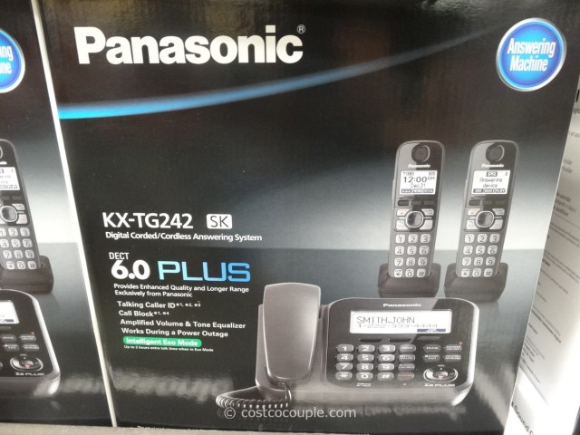 Panasonic Digital Corded and Cordless Answering System Costco 1