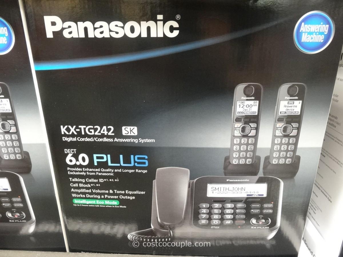panasonic digital corded and cordless answering system kx tg242sk