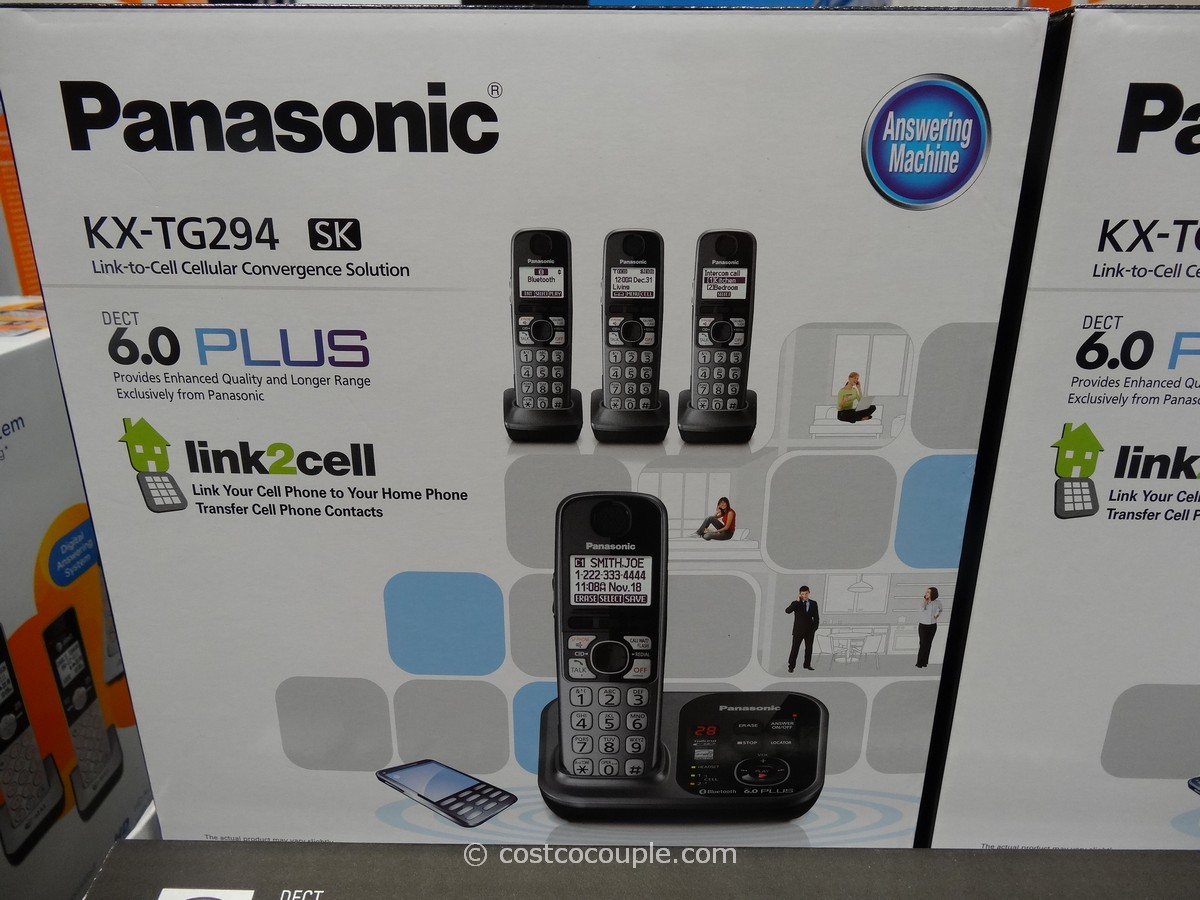 Panasonic Dect 6.0 Cordless Phone Set Costco 1
