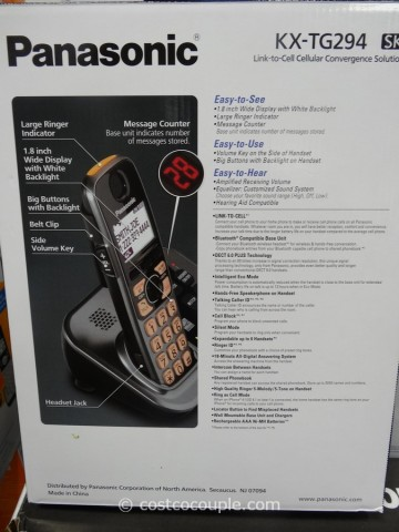 Panasonic Dect 6.0 Cordless Phone Set Costco 2