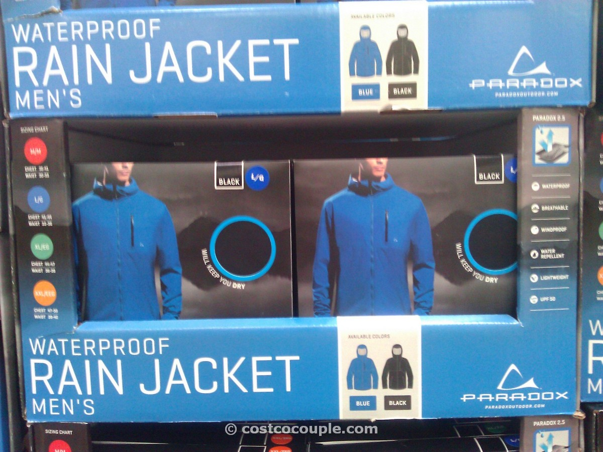 Paradox Mens Waterproof Rainjacket Costco 1