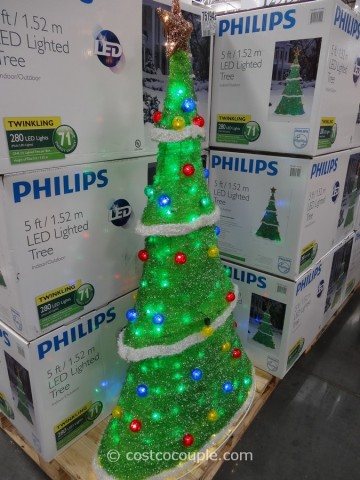 Philips LED Lighted Tinsel Tree Costco 1