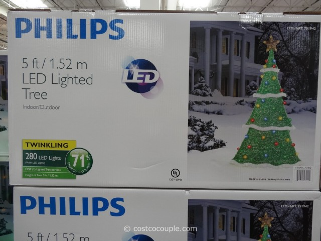 Philips LED Lighted Tinsel Tree Costco 2