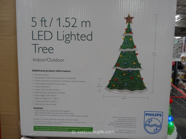 Philips LED Lighted Tinsel Tree Costco 3