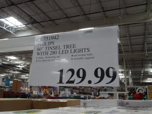 Philips LED Lighted Tinsel Tree Costco 4