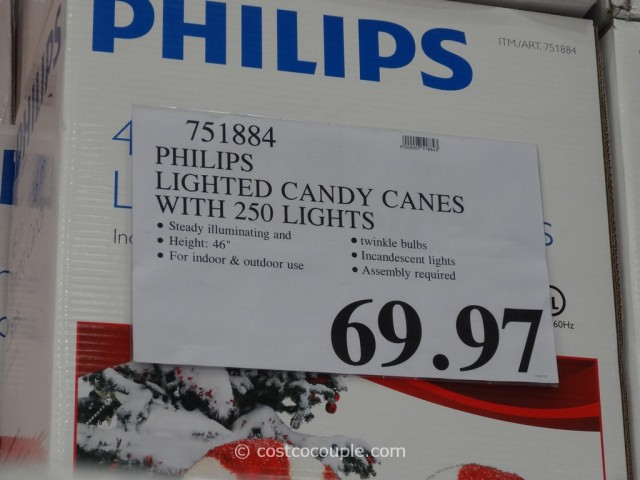 Philips Lighted Candy Canes Costco Item 751884