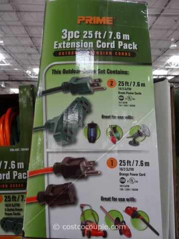 Prime Outdoor Extension Cord Pack Costco 2