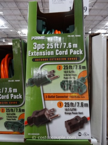 Prime Outdoor Extension Cord Pack Costco 3