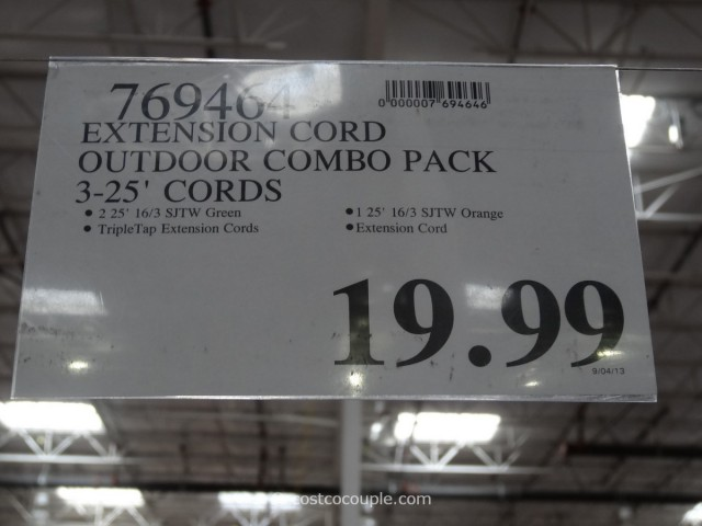 Prime Outdoor Extension Cord Pack Costco 4