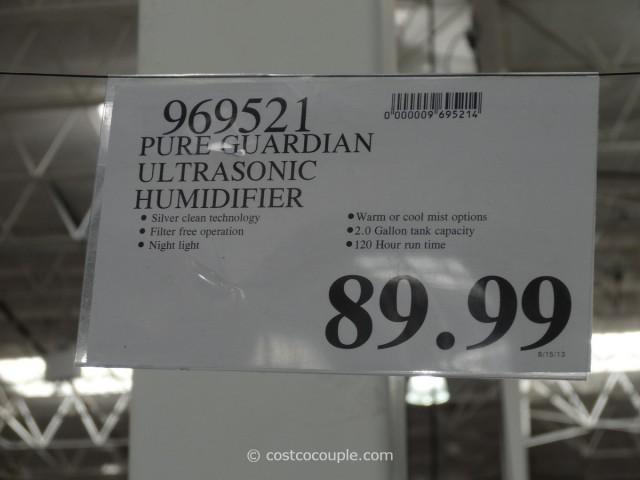 Pure Guardian Ultrasonic Humidifier Costco 1