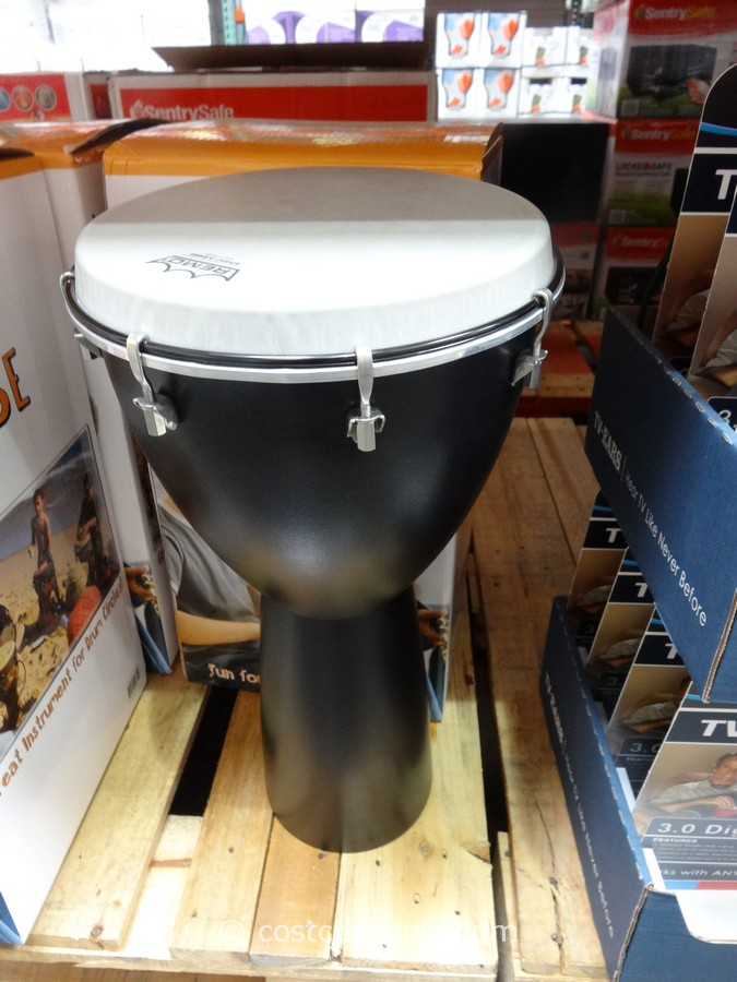 The Remo Advent Djembe is lightweight, easy to play, weather resistant