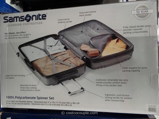 Samsonite 2-Piece Hardside Spinner Set Costco 5
