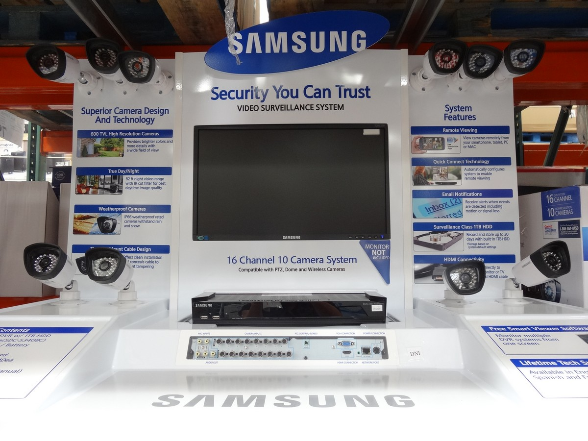 Samsung 16 Channel 10 Camera Surveillance System Costco 3