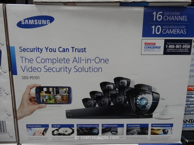 samsung 16 channel 10 camera surveillance system. Black Bedroom Furniture Sets. Home Design Ideas