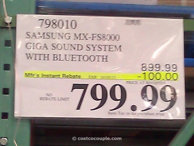 Samsung Giga Sound System with Bluetooth Costco 3