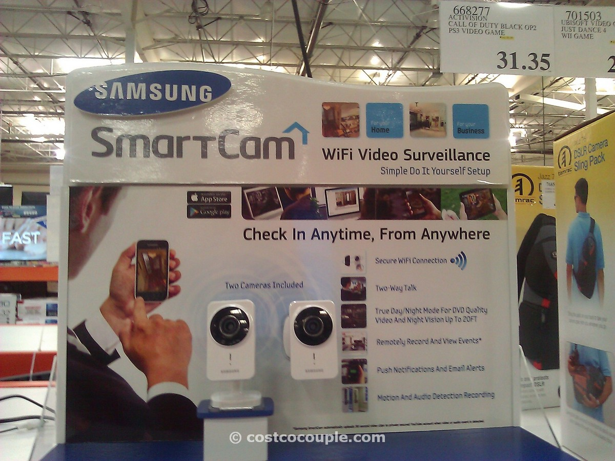 Samsung WiFi Security Cameras Costco 1