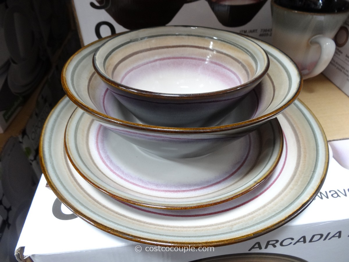 Sango Arcadia Black Dinnerware Set Costco 4
