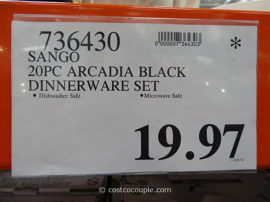 Bamboo Flooring Costco Golden Arowana The Sango Arcadia Black Dinnerware  Set Is Hand Painted And Available