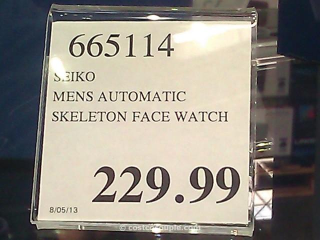 Seiko Coutura Automatic Skeleton Face Costco 1