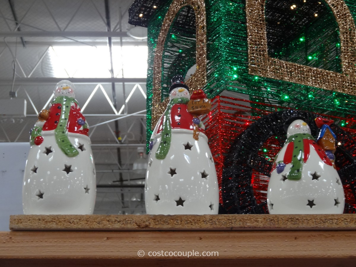 Snowmen With Color Changing LED Lights Costco 1