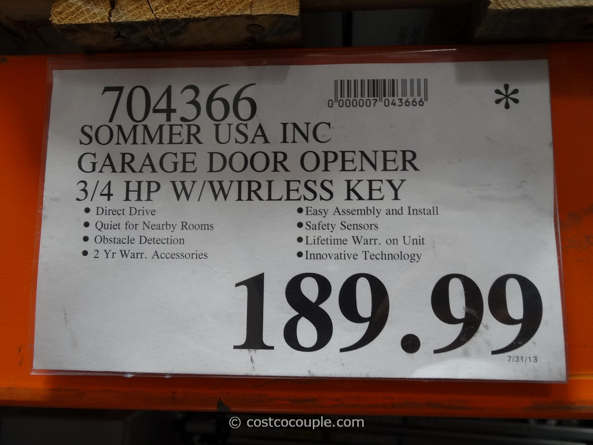 sommer direct drive garage door opener costco 7