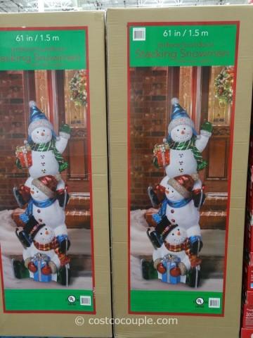 Stacking Snowmen Costco 1