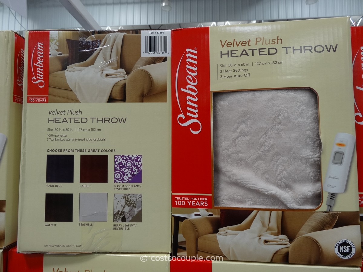 Sunbeam Heated Throw Costco 1