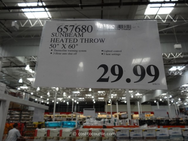 Sunbeam Heated Throw Costco 2
