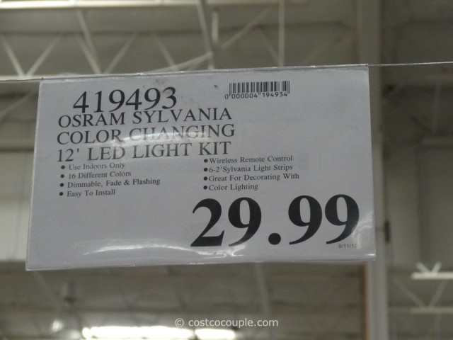 Sylvania Mosaic LED Flexible Light Kit Costco 4
