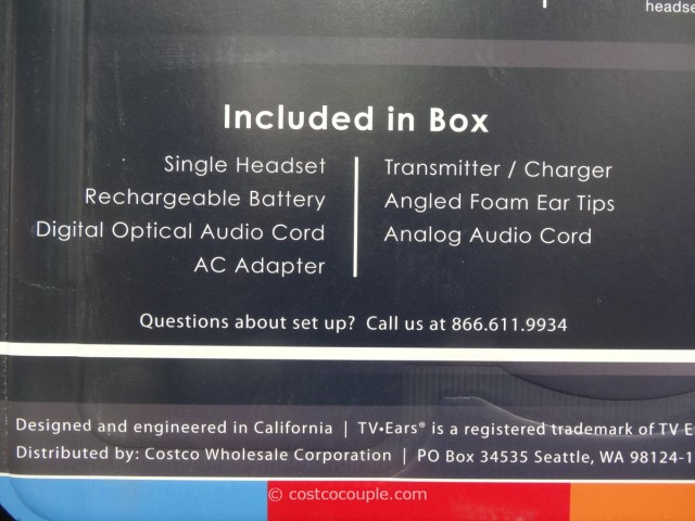 TV Ears 3.0 Headset Costco 5