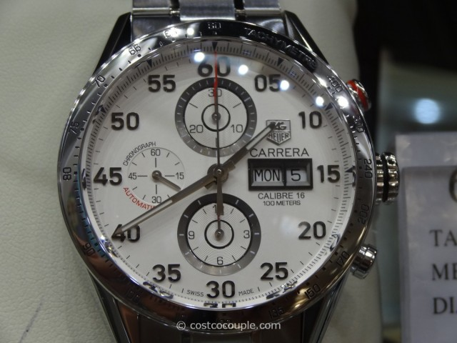 Tag Heuer Carrera White Chronograph Costco 1