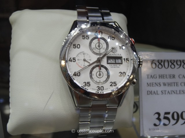 Tag Heuer Carrera White Chronograph Costco 2