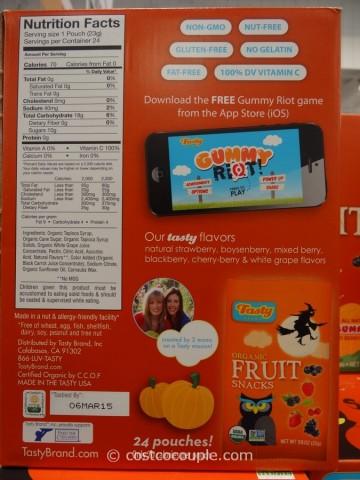 Tasty Brand Spooky Organic Fruit Snacks Costco 2