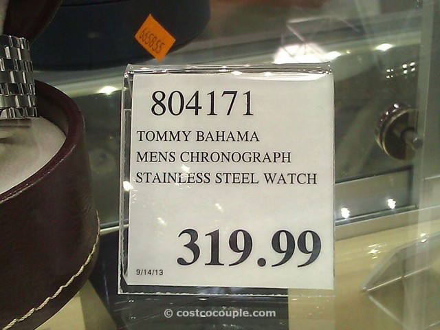 Tommy Bahama Mens Chronograph Stainless Steel Watch Costco 2