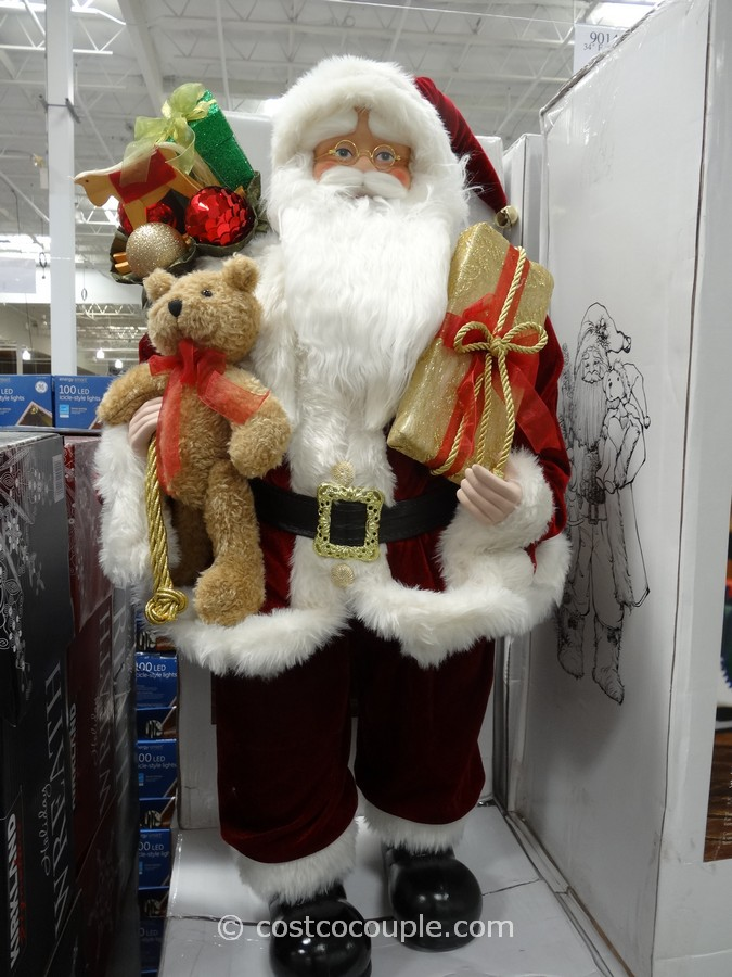 Traditional or Woodland Fabric Santa Costco 1