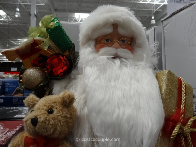 Traditional or Woodland Fabric Santa Costco 2