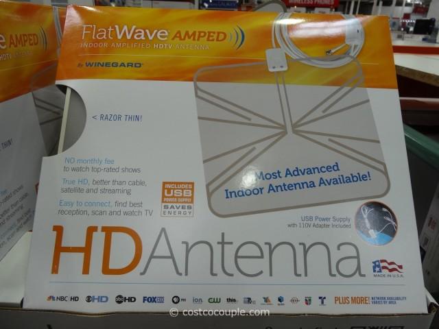 Winegard Flatwave Amped Indoor HDTV Antenna Costco 1