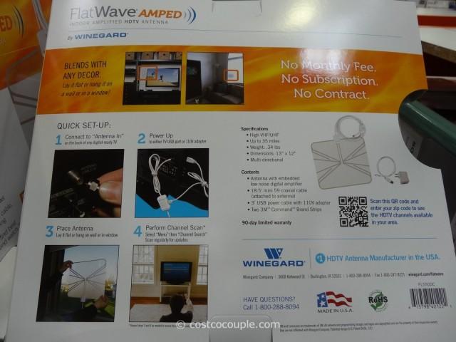Winegard Flatwave Amped Indoor HDTV Antenna Costco 2
