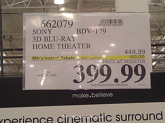 Sony 3D Blu Ray Home Theater Costco 2