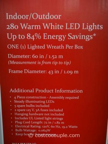 60Inch LED Prelit Decorated Wreath Costco 2