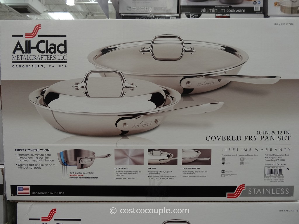 All Clad Stainless Steel Skillet Set