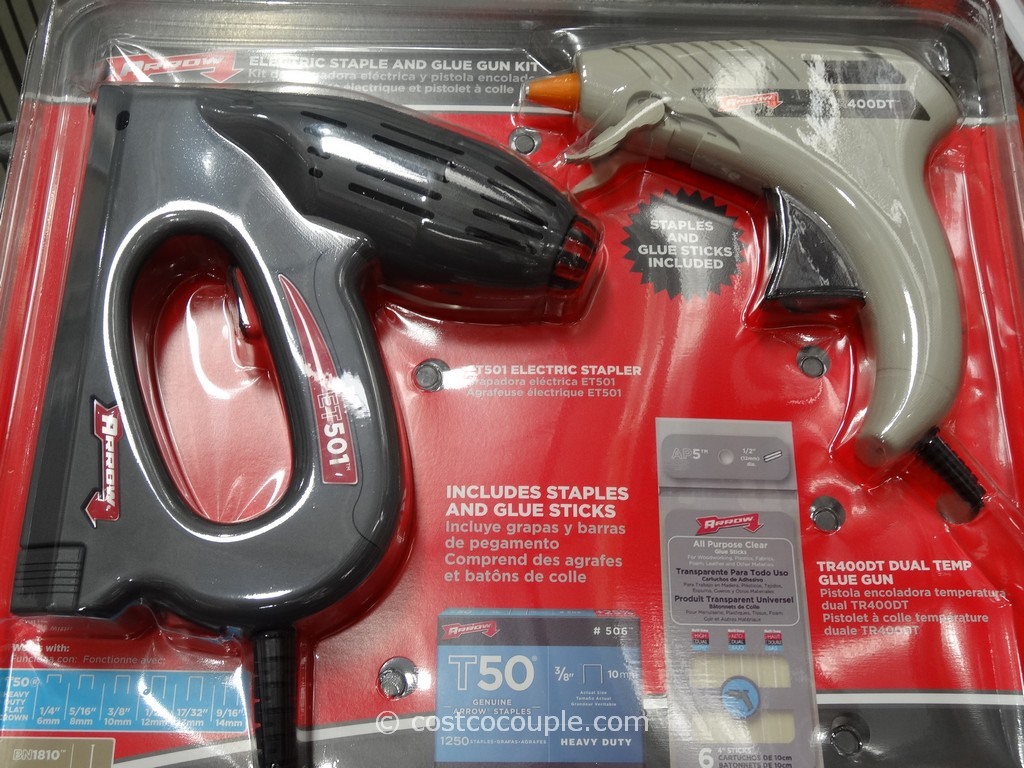 Arrow Electric Stapler and Glue Gun Kit Costco 1