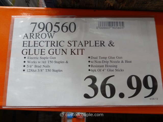 Arrow Electric Stapler and Glue Gun Kit Costco 3