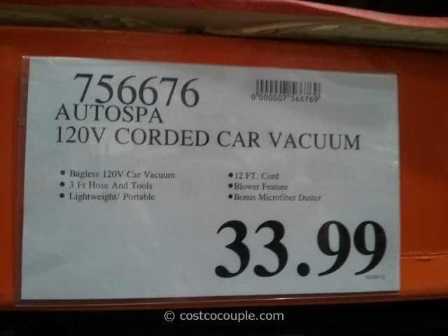 AutoSpa Corded Car Vacuum Costco 1