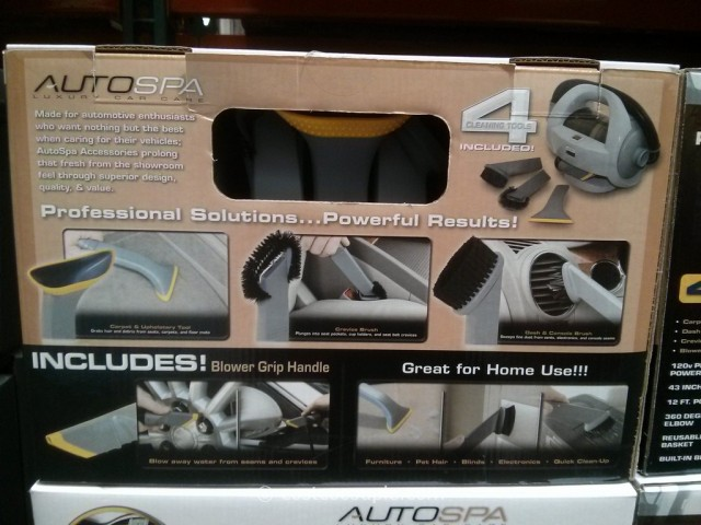 AutoSpa Corded Car Vacuum Costco 4