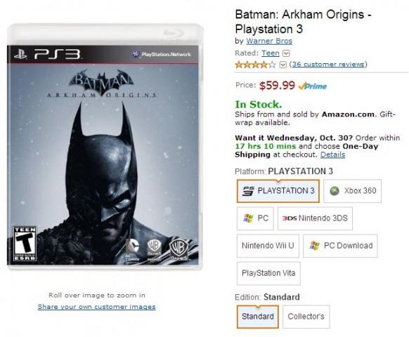 Batman Arkham Origins - Playstation 3 Amazon