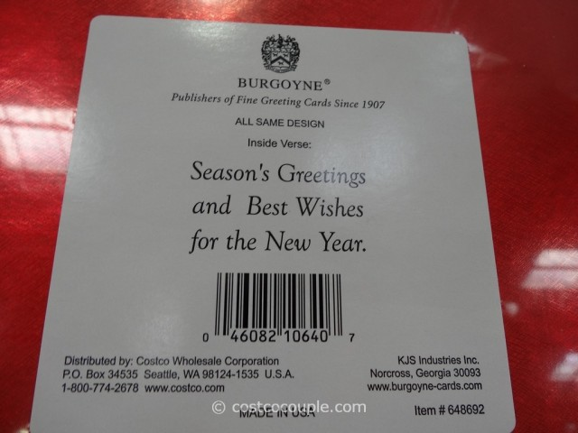 Burgoyne Christmas Cards Costco 3