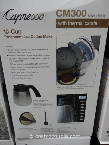 Capresso CM300 Programmable Coffee Maker Costco 1