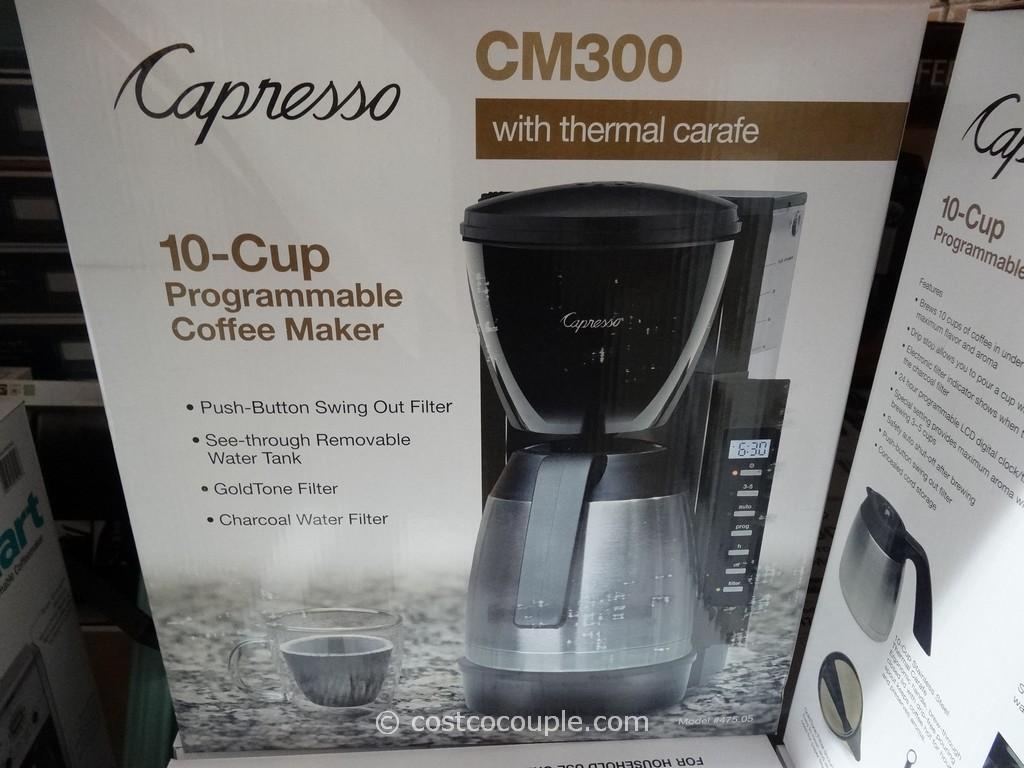 Capresso CM300 Programmable Coffee Maker Costco 3 Capresso Coffee Maker Cm  Capresso Cm Coffee Maker Programmable Thermal Coffee