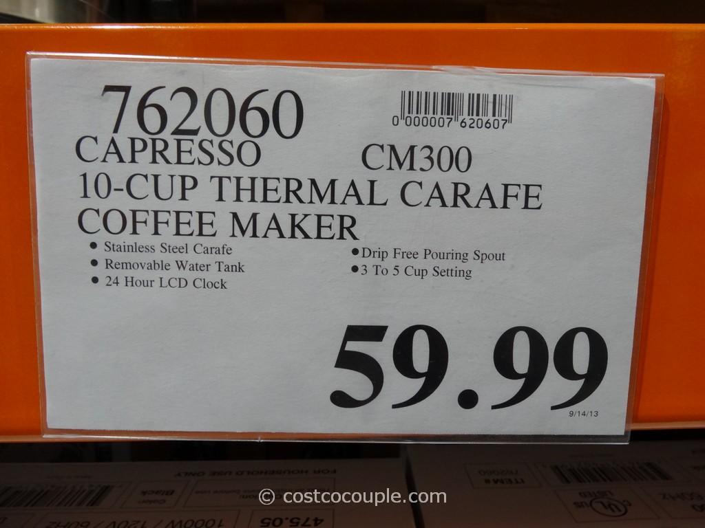 Capresso CM300 Programmable Coffee Maker Costco 4 Capresso Coffee Maker Cm  Capresso Cm Coffee Maker Programmable Thermal Coffee